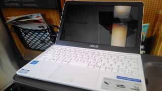 新幹線でASUS EeeBook X205TAを使ってみた感想です